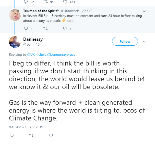 Nigerian reactions on Ben Murray-Bruce tweet on the bill of electric car use 2