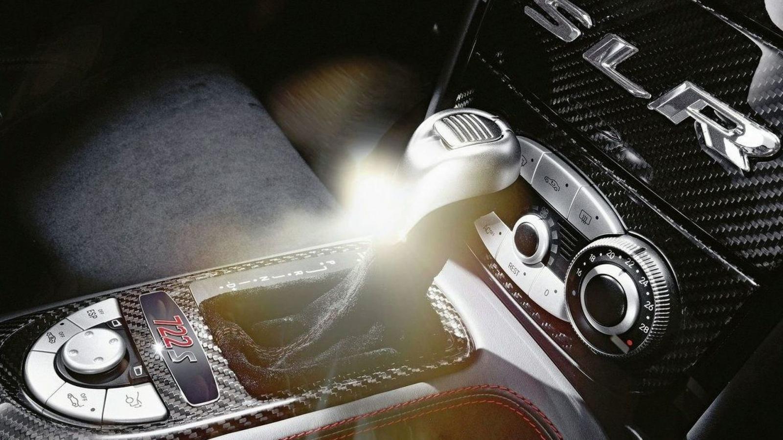 The Mercedes SLR Mclaren gear stick