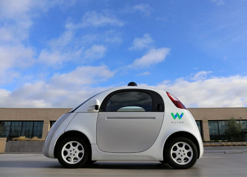 Waymo-mini-self-driving-car-on-the-road