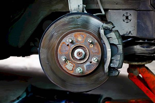 a-brake-disc-with-its-calipers