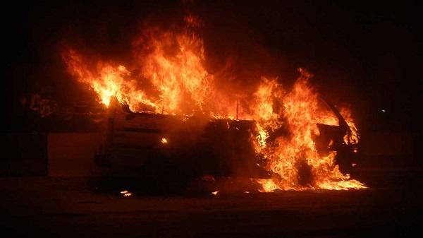 Burning-bus