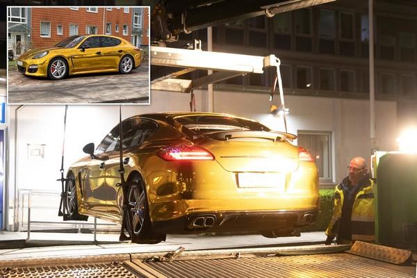gold-porsche-car-seized-by-german police