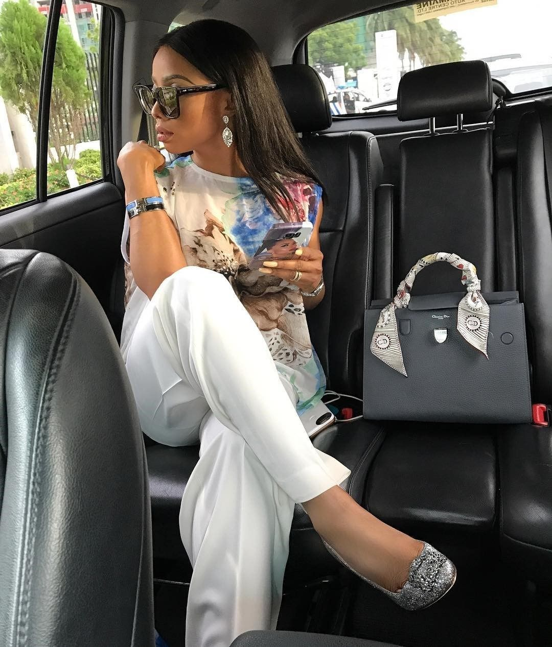 Toke Makinwa in one of her cars.
