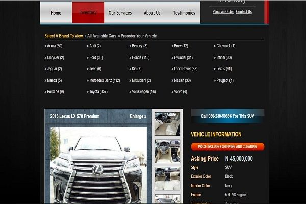 a-web-page-of-a-car-dealership