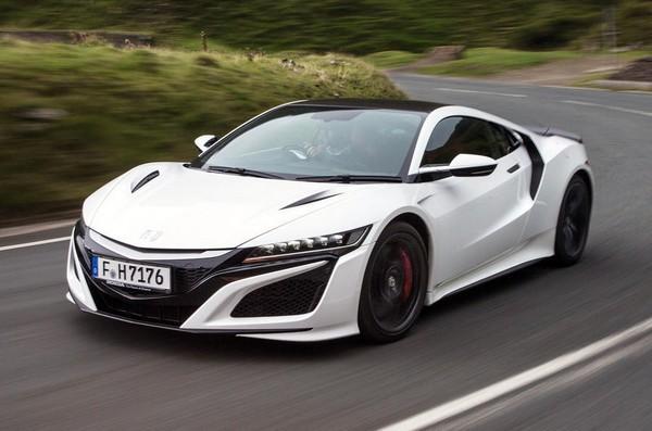 white-sports-car
