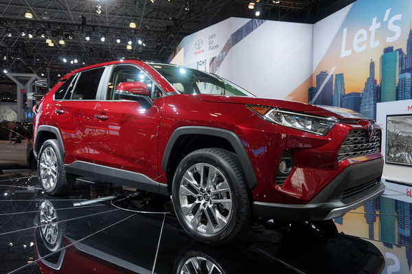2019-RAV4-parked-in-a-show-room