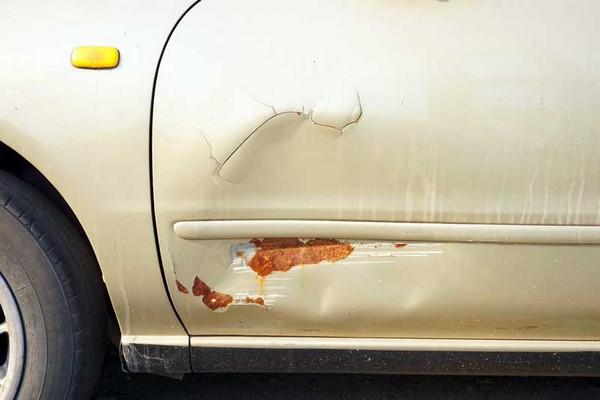 Rust-on-car-body