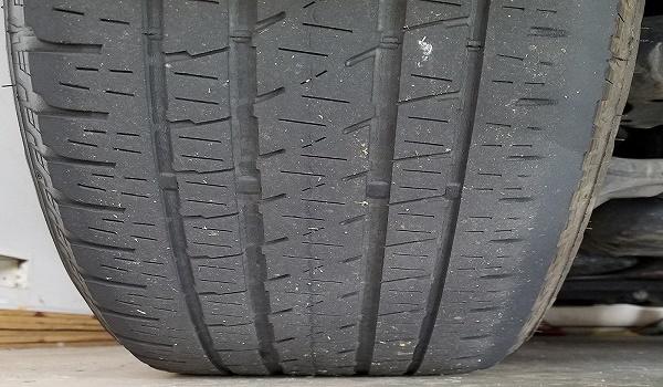 An-uneven-tyre