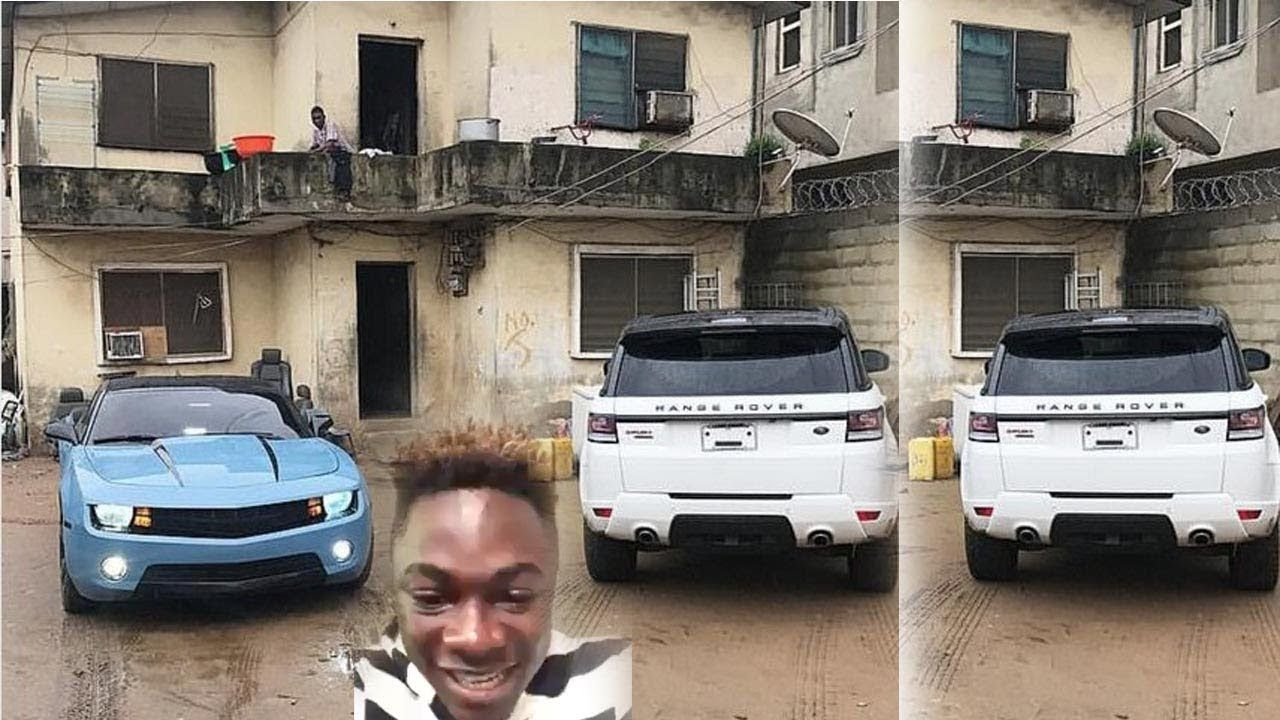 Parked-Range-Rover-in-front-of-Yahoo-boys-ghetto-house
