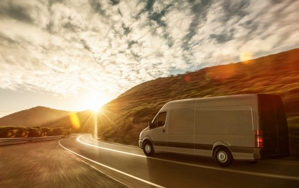 A-van-running-on-the-highway