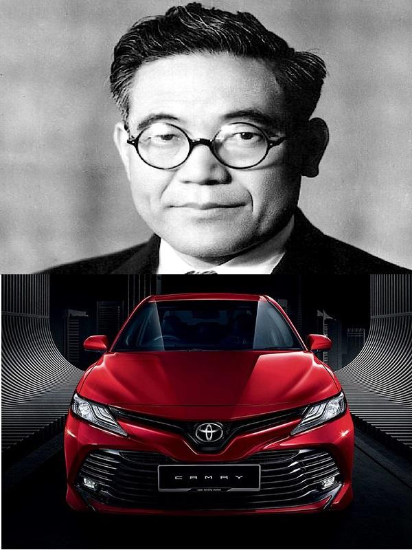 Toyota Camry-and-Kiichiro Toyoda