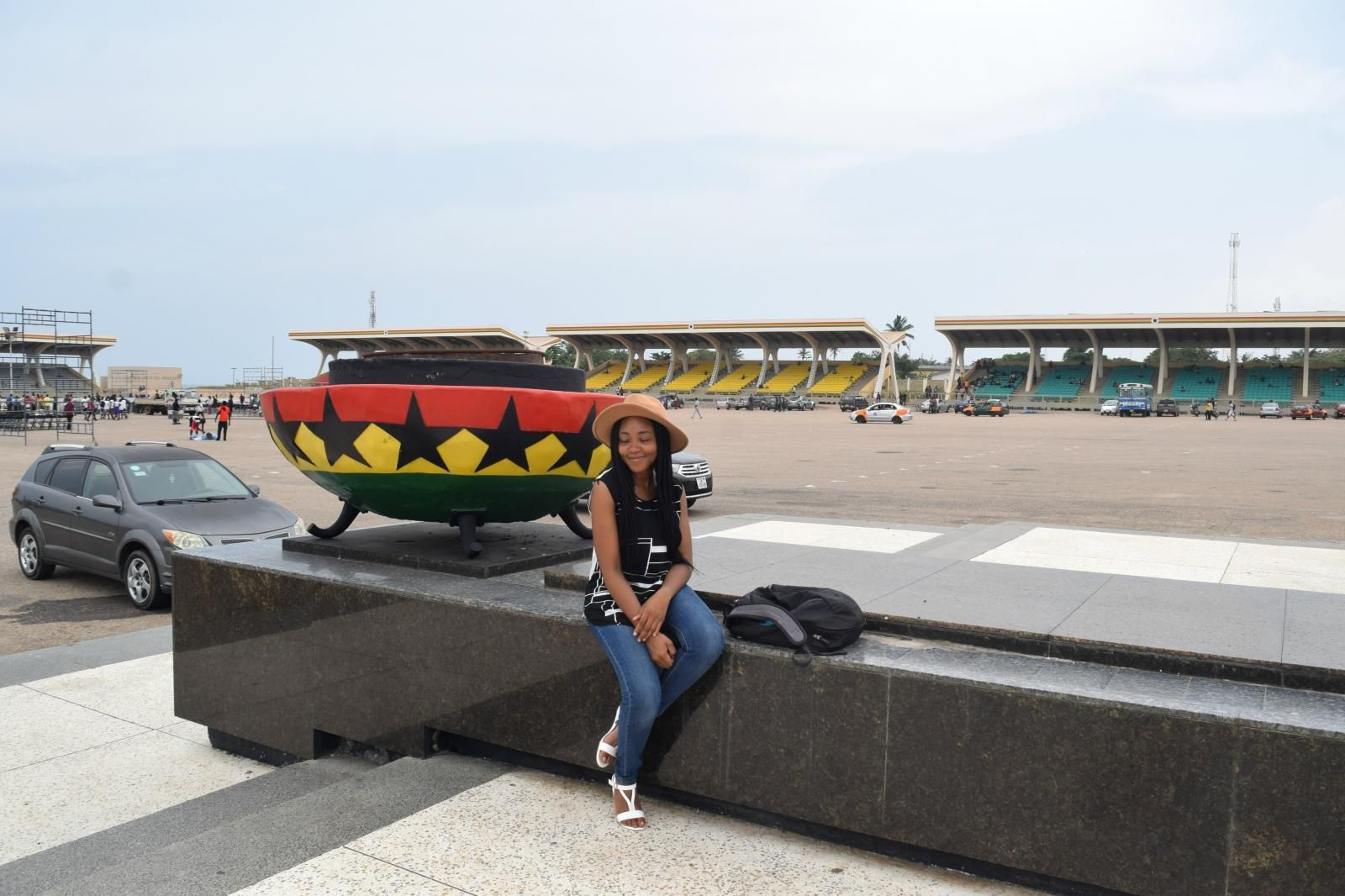 A-female-tourist-in-Accra-Ghana