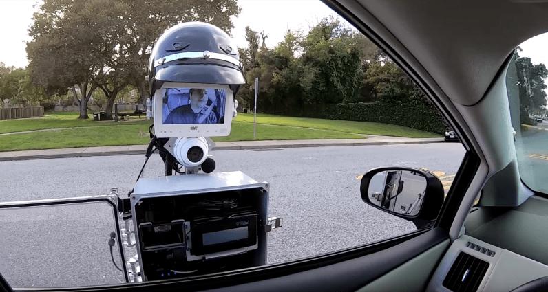 Police-robo- pulls-over-a-motorist
