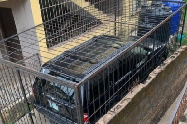 car-in-cage