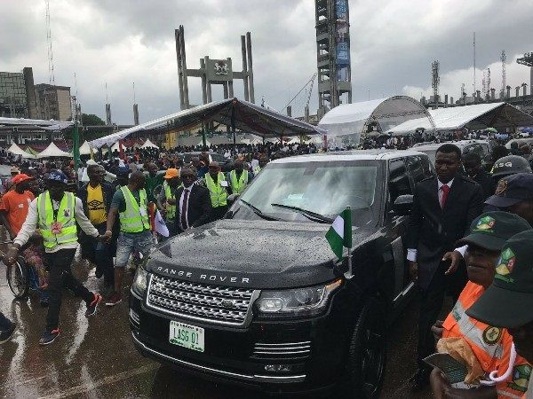 New Lagos State Governor Takes Armoured Range Rover Sentinel Suv As
