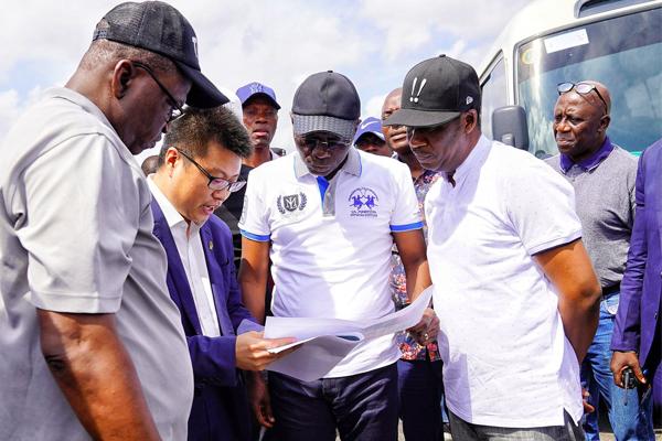 Sanwo-Olu-going-through-masterplan-for-Mile-2-Badagry-Expressway
