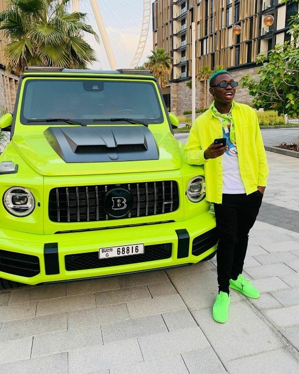 Zlatan-Ibile-In-Matching-Outfit-With-Brabus-G-Wagon