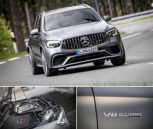 2020-Mercedes-AMG-GLC-63-front-view-and-engine
