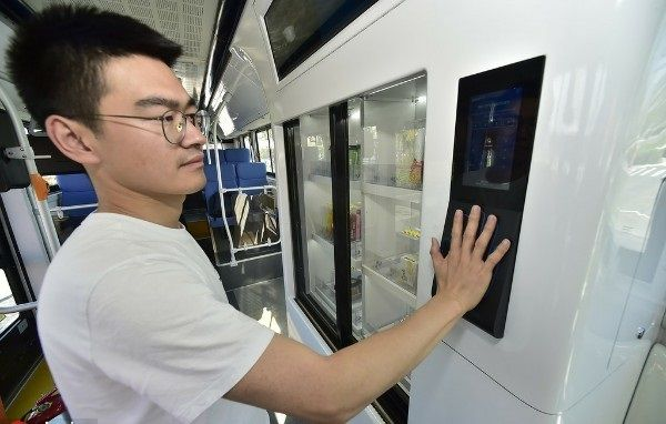 image-of-self-driving-bus-in-china-bio-metric-scanner-for-food