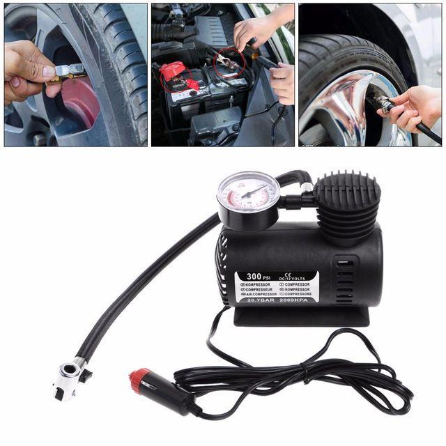 A-car-tyre-inflator-pump