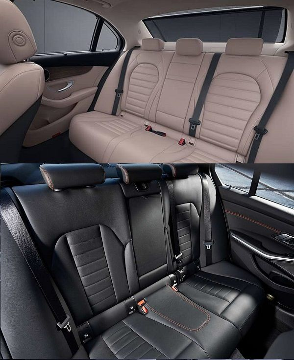 2019-Mercedes-Benz-C300-and-2019-BMW-3-Series-seats