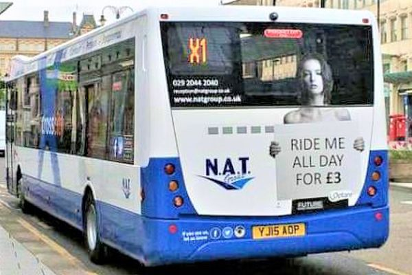 Ride-service-bus-advert