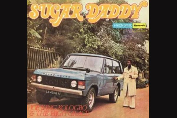 Joe-King-Kologbo-posing-with-Fela-Kuti-Range-Rover-in-Sugar-Daddy-album-cover