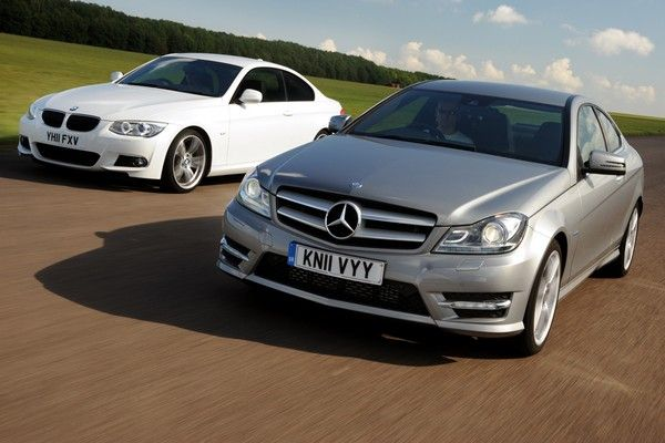 bmw-and-mercedes-on-road