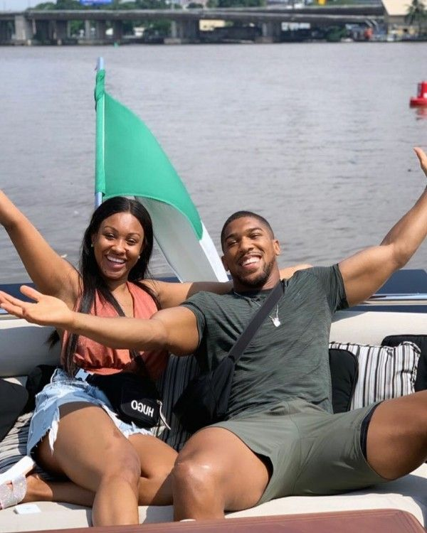 Janet-and-Anthony-Joshua-rides-in-Aliko-Dangote-Yacht