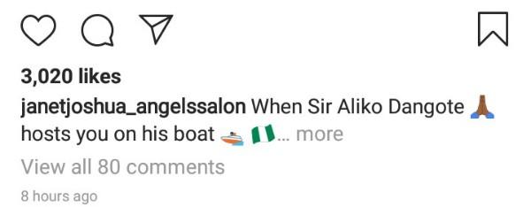 Janet-Joshua-captions-photos-on-Instagram-of-Dangote-yacht-ride