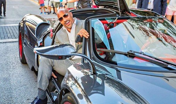 image-of-dwayne-the-rock-johnson-in-a-pagani-huayra
