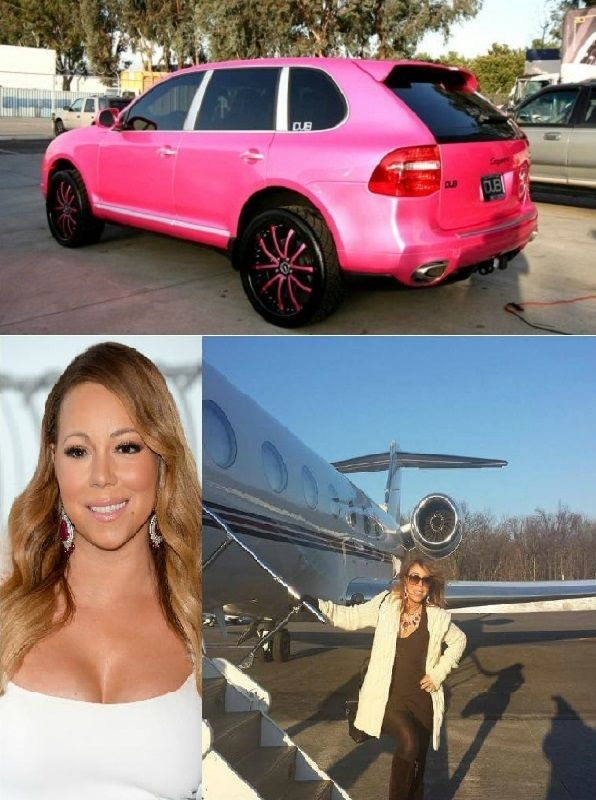 Mariah-Carey-jet-and-Porsche Cayenne