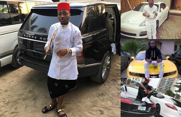 Davido-the-richest-musician-in-nigeria-and-hiscars