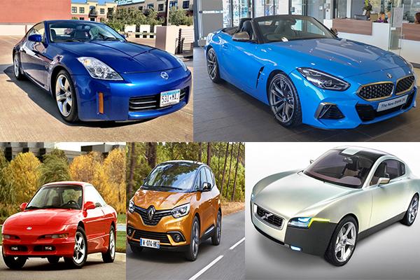 Nissan-350Z-&-Ford-Probe-&-Renault-Scenic-&-Volvo-YCC-&-BMW-Z4