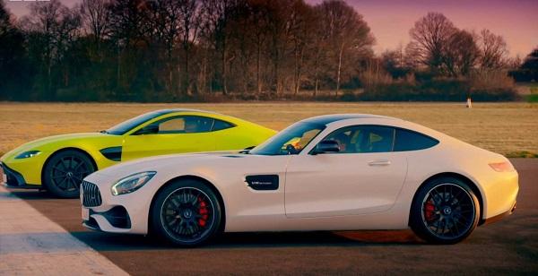 Aston-Martin-Vantage-vs-Mercedes-AMG-GT-S-drag-race