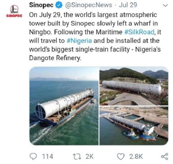 Screenshot-of-Sinopec-Twitter-post
