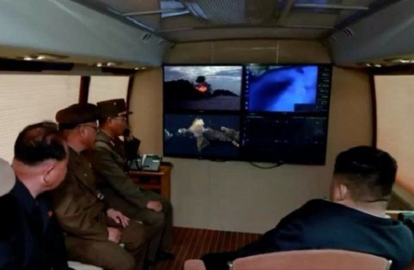 Kim-Jong-Un-observes-missile-launch-inside-new-van