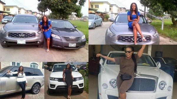 Blogger-Linda Ikeji-cars