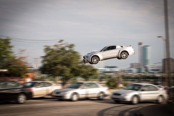 Stunt-scene-of-a-Flying-Mustang