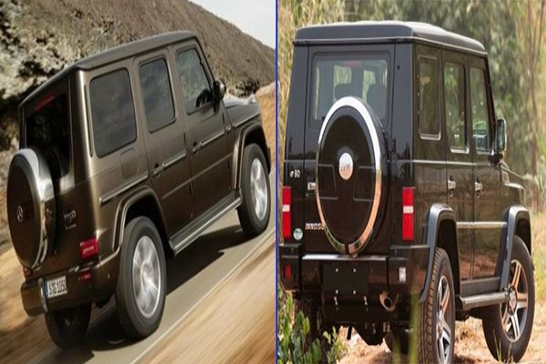 Back-view-of-Mercedes-Benz-G-Wagon-vs-Innoson-IVM-G80-in-motion