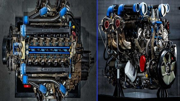 Bugatti-EB110-3.5L-quad-turbo-V12-engine