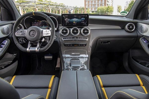 Front-fascia-of-the-2019-Mercedes-AMG-GLC-63-S-Coupe