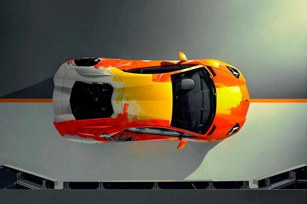 Lamborghini-Aventador-above