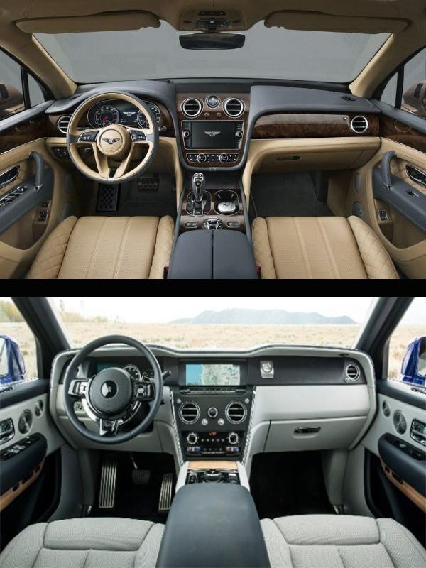 Front-fascia-of-Bentley-Bentayga-Speed-SUV-and-Rolls-Royce-Cullinan-SUV