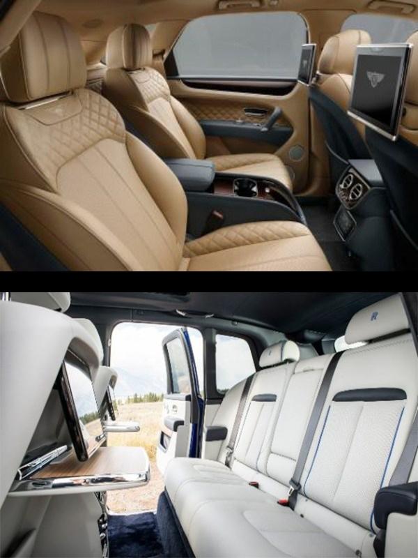 Interior-of-Bentley-Bentayga-Speed-SUV-and-Rolls-Royce-Cullinan-SUV