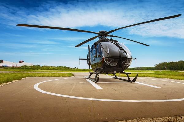 Helicopyter-landed-on-helipad