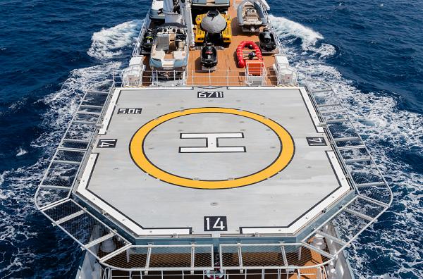 Helipad-bult-on-ships