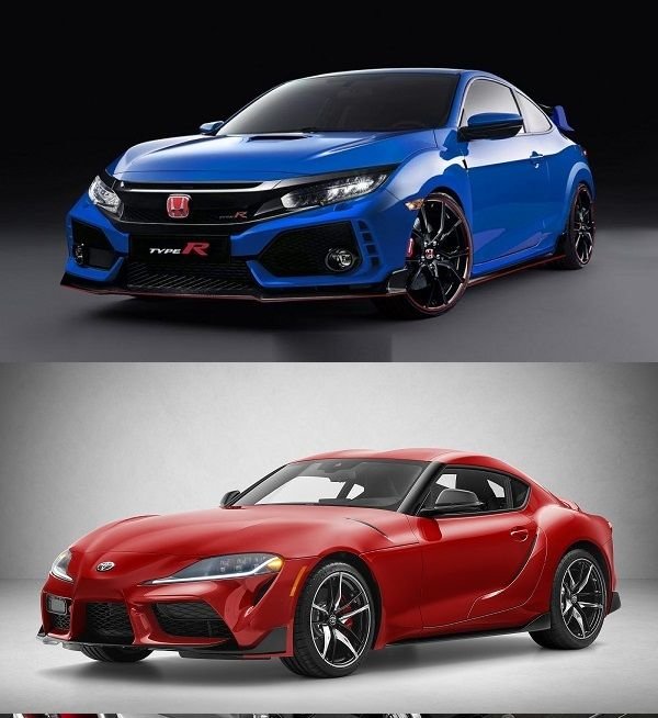2020-Toyota-Supra-and-the-2019-Honda-Civic-Type-R