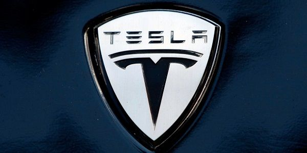 Tesla-logo-on-black-background