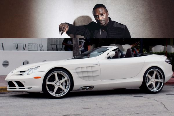 Akon-and-white-Mercedes-Benz-SLR-McLaren